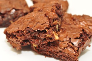 A delicious plate of brownies